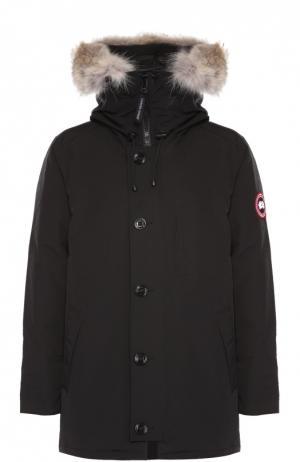 Пуховая парка Chateau с меховой отделкой капюшона Canada Goose. Цвет: черный