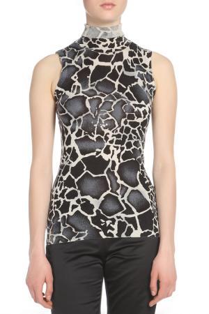 Водолазка без рукавов Versace Jeans Couture. Цвет: черный, серый, бежевый