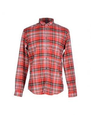 Pубашка DANIELE ALESSANDRINI HOMME. Цвет: красный