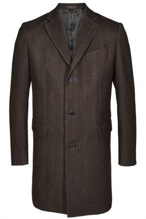 Пальто Armani Collezioni. Цвет: коричневый