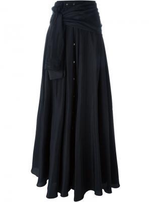Длинная юбка в виде рубашки Faith Connexion. Цвет: чёрный