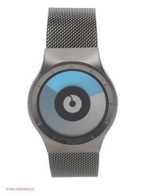 Часы Celeste Gunmetal - Mono Ziiiro. Цвет: серебристый, голубой