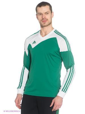 Лонгслив Adidas. Цвет: зеленый