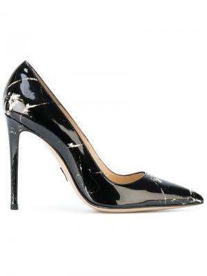 Туфли-лодочки с мраморным принтом Paul Andrew. Цвет: чёрный