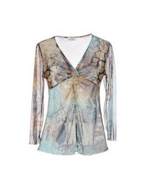 Блузка ANGELO MARANI. Цвет: бежевый