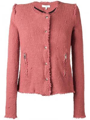 Твидовый пиджак Agnette Iro. Цвет: розовый и фиолетовый