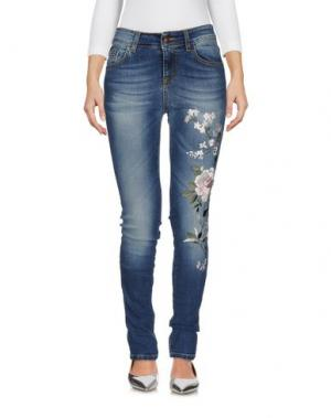 Джинсовые брюки PEACOCK BLUE. Цвет: синий