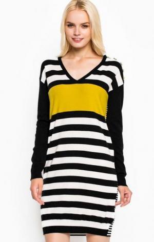 Короткое платье свободного кроя Liu Jo Jeans. Цвет: черный