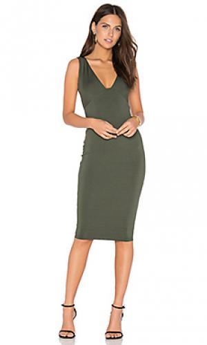 Платье миди muse Nookie. Цвет: зеленый