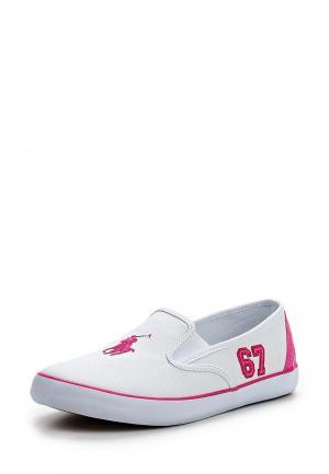 Кроссовки Polo Ralph Lauren. Цвет: белый