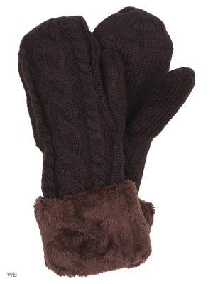 Варежки UFUS. Цвет: коричневый