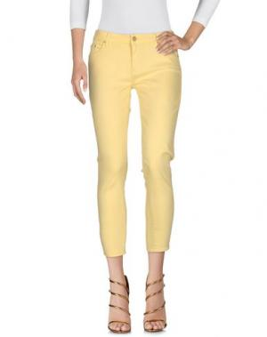 Джинсовые брюки MOTHER. Цвет: желтый