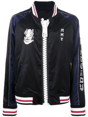 Куртка-бомбер на молнии Maison Mihara Yasuhiro. Цвет: чёрный