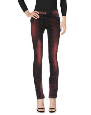 Джинсовые брюки TOM REBL. Цвет: кирпично-красный