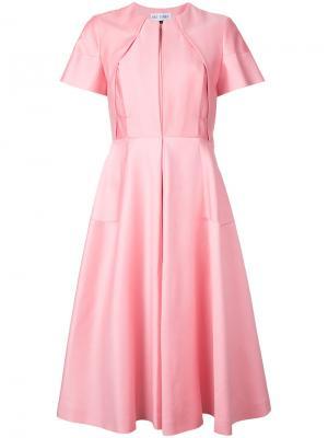 Платье на молнии спереди Dice Kayek. Цвет: розовый и фиолетовый