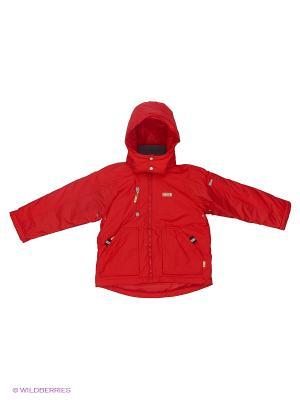 Куртка NELS. Цвет: красный