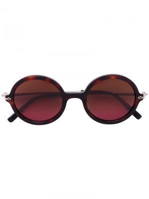Солнцезащитные очки с круглой оправой Matsuda. Цвет: коричневый