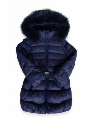 Пальто De Salitto. Цвет: синий