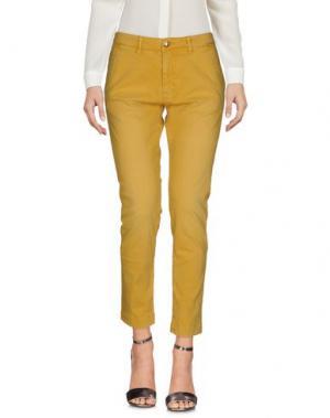 Повседневные брюки MONOCROM. Цвет: охра