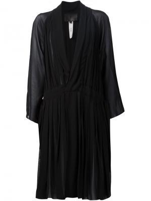 Расклешенное платье с глубоким вырезом Valery Kovalska. Цвет: чёрный