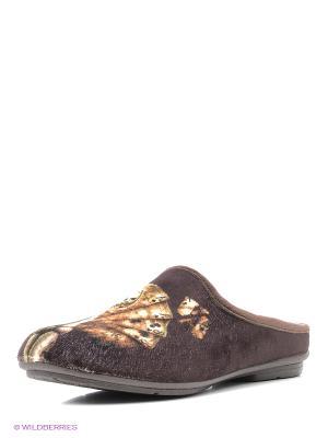 Испанские тапочки Mon Ami. Цвет: коричневый