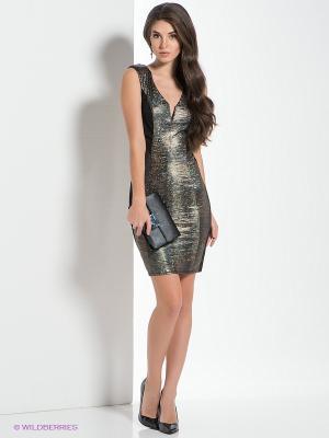 Платье NikiBiki. Цвет: черный, бронзовый