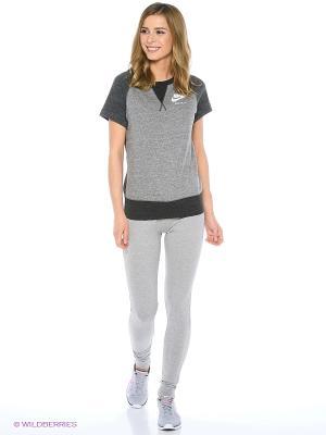 Леггинсы W NSW PANT CF JRSY Nike. Цвет: серый меланж