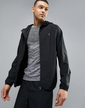 KI5-A Спортивная куртка Slate Gym Training. Цвет: черный