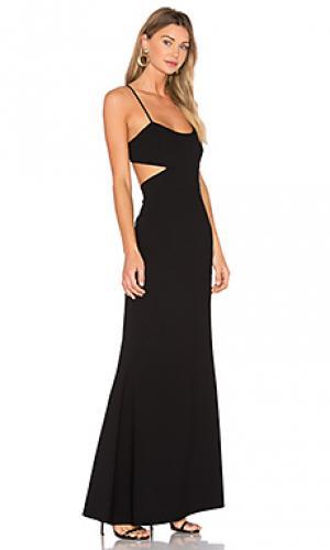 Расклешенное вечернее платье JILL STUART. Цвет: черный