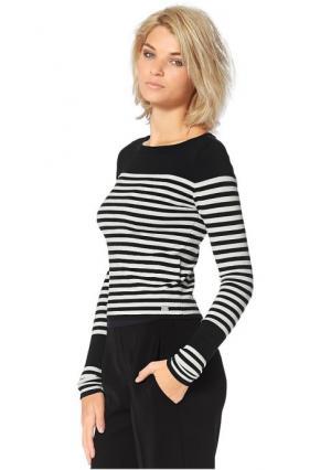 Пуловер Laura Scott. Цвет: черный/цвет белой шерсти в полоску