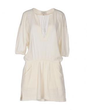 Короткое платье POLDER. Цвет: слоновая кость