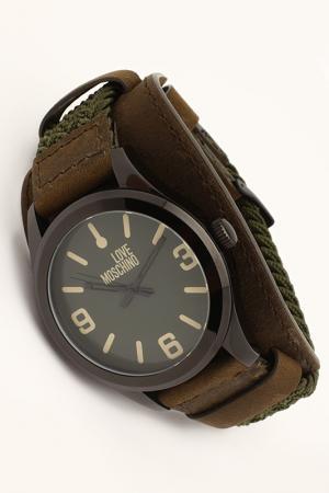 Часы Moschino. Цвет: черное покрытие, зеленый