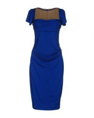 Платье до колена GIO' GUERRERI. Цвет: ярко-синий