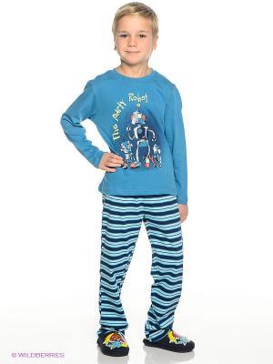 Пижама PELICAN. Цвет: голубой, светло-голубой, темно-синий