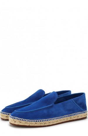 Замшевые эспадрильи с прострочкой Loro Piana. Цвет: синий