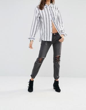 One Teaspoon Тертые черные джинсы Awesome Baggies