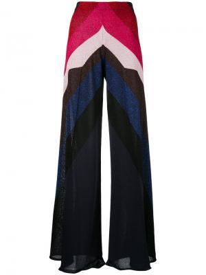Широкие брюки с эффектом металлик Circus Hotel. Цвет: многоцветный