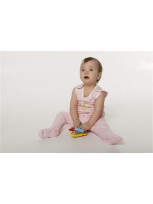 Комбинезон ORANGE BABY. Цвет: бледно-розовый, бежевый