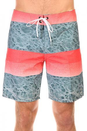 Шорты пляжные  Fade X 18 Tangerine Billabong. Цвет: голубой,розовый