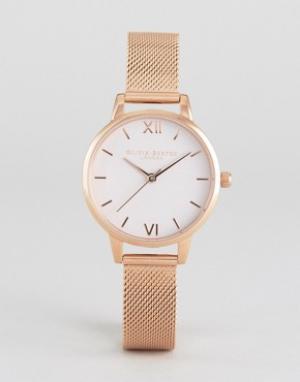 Olivia Burton Часы с сетчатым браслетом Begin To Blush. Цвет: золотой
