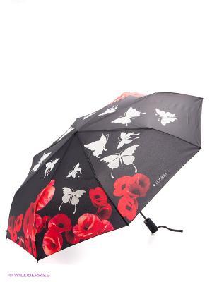 Зонт Flioraj. Цвет: черный, красный