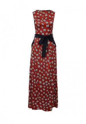 Платье Piena. Цвет: бордовый