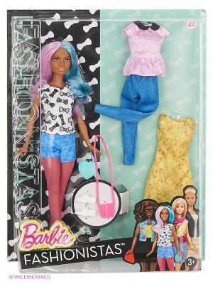 Кукла Барби Fashionistas. Эволюция (с набором одежды) Barbie. Цвет: голубой, розовый, желтый