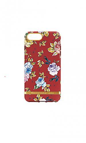 Чехол для телефона red floral Richmond & Finch. Цвет: красный