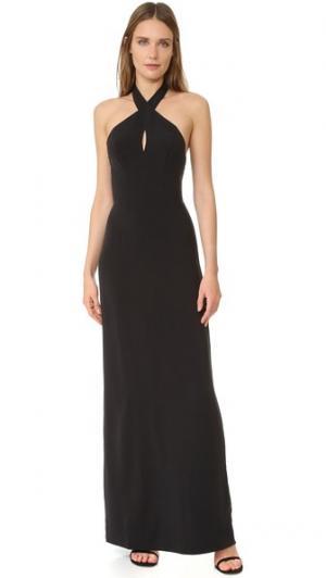 Вечернее платье с американской проймой и каплевидным вырезом Ali & Jay. Цвет: голубой