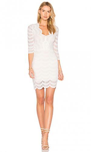 Платье с глубоким v-образным вырезом fiesta Nightcap. Цвет: белый