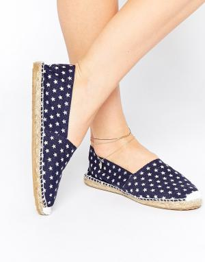 OAS Blue Star Espadrille Slip On Flat Shoes