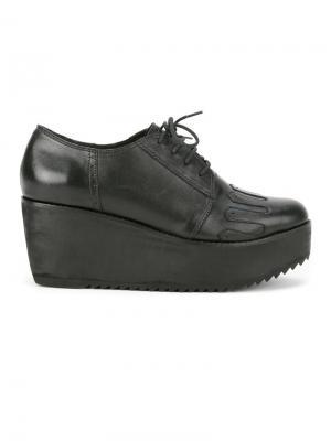 Short lace-up platform boots Martha Medeiros. Цвет: чёрный