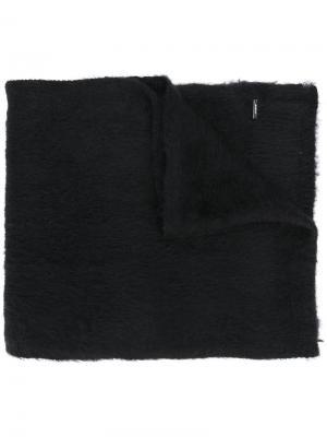 Одноцветный шарф Dondup. Цвет: чёрный