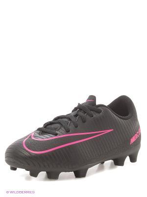 Бутсы JR MERCURIAL VORTEX III FG Nike. Цвет: черный